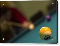 Playing Pool Acrylic Print by Ioan Panaite