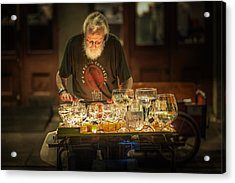 Playing The Glasses Acrylic Print by Brenda Bryant