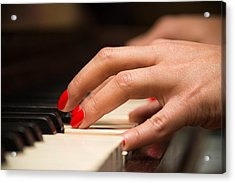 Playing The Piano Acrylic Print