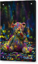 Playing With Coloured Powder Acrylic Print by Tim Gainey