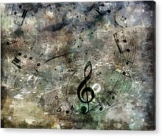Playing Your Song Acrylic Print by Angelina Vick
