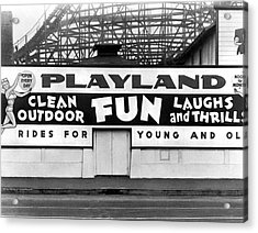 Playland At The Beach Acrylic Print by Underwood Archives