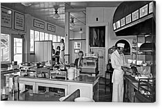 Playland Restaurant Interior Acrylic Print by Underwood Archives