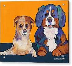 Playmates Acrylic Print by Pat Saunders-White