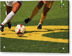 Plays On The Ball Acrylic Print by Laddie Halupa