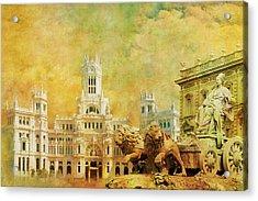 Plaza De Cibeles City Hall Madrid Acrylic Print