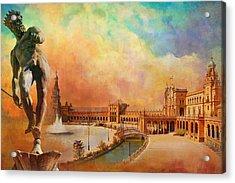 Plaza De Espana Seville Acrylic Print