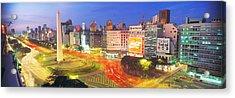 Plaza De La Republica, Buenos Aires Acrylic Print by Panoramic Images