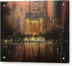 Plaza Hotel New York City Acrylic Print by Tom Shropshire
