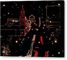 Plaza Lights 1978 Acrylic Print
