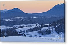 Pleasant Valley Winter Twilight Acrylic Print by Alan L Graham
