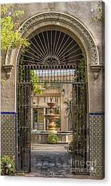 Please Come In Acrylic Print by Sandra Bronstein