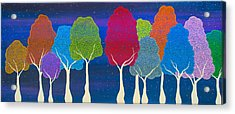 Please Don't Lick The Sherbet Trees Acrylic Print