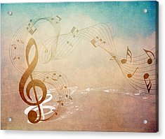 Please Dont Stop The Music Acrylic Print by Angelina Vick