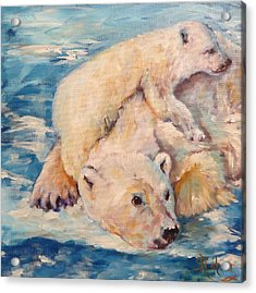 You Need Another Nap, Polar Bears Acrylic Print