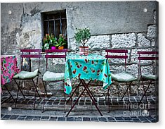 Please Have A Seat Acrylic Print by Delphimages Photo Creations