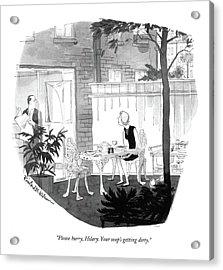 Please Hurry Acrylic Print by Rowland Wilson
