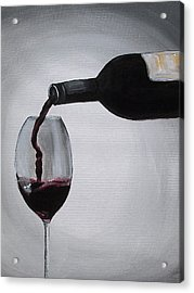 Pleasure In A Glass Acrylic Print by Melissa Torres