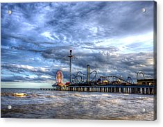 Pleasure Pier Galveston Acrylic Print by Shawn Everhart