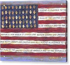 Pledge Flag Acrylic Print