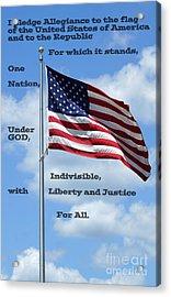 Pledge Of Allegiance Acrylic Print