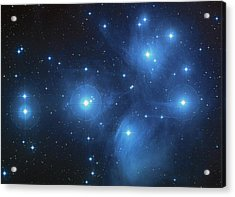 Pleiades - Star System Acrylic Print by Absinthe Art By Michelle LeAnn Scott