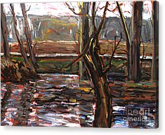 Plein Air Of The Eel After Alfred Sisley Acrylic Print by Charlie Spear
