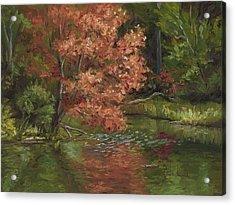 Plein Air - Red Tree Acrylic Print