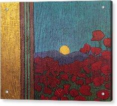 Plentiful Vista With Poppies Acrylic Print