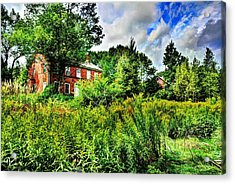 Plott Road Farmhouse Acrylic Print by John Nielsen