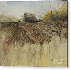 Ploughed Field Acrylic Print by Steve Knapp