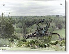 Plowing Through The Past Acrylic Print by Richard Bean