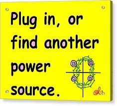 Plug In Acrylic Print by Anita Dale Livaditis