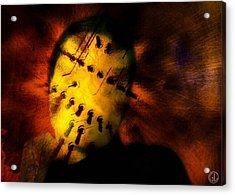 Plugged In Zombie Acrylic Print by Gun Legler