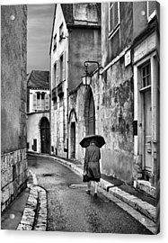 Pluie A Chartres #2 - Black And White Acrylic Print by Nikolyn McDonald