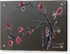 Plum Flower Acrylic Print
