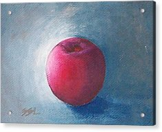 Acrylic Print featuring the painting Plum by Jane  See