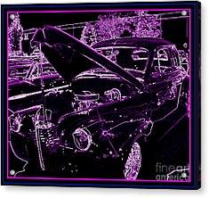 Acrylic Print featuring the digital art Plum Perfect by Bobbee Rickard