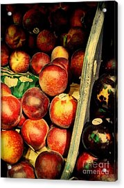 Plums And Nectarines Acrylic Print by Miriam Danar