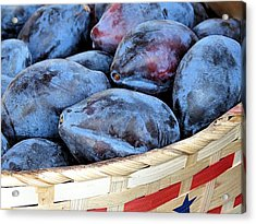 Plums For Sale Acrylic Print