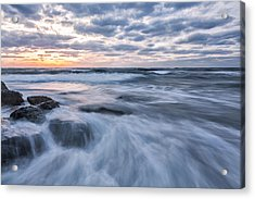Plunge Into The Blue Acrylic Print