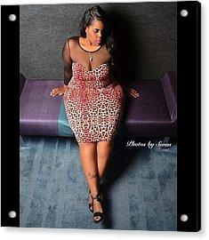 #plusmodel #phat #girls #bbw #thick Acrylic Print