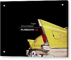 Plymouth '56 Acrylic Print by Mark Rogan