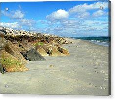 Plymouth Beach In Massachusetts Acrylic Print by Janice Drew