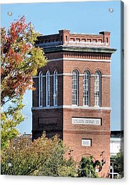 Plymouth Cordage Company Tower Of Mill No 1 Acrylic Print by Janice Drew
