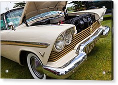 Acrylic Print featuring the photograph Plymouth Fury Cream by Mick Flynn