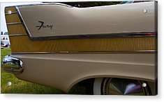 Plymouth Fury Tail Fin Detail 2 Acrylic Print by Mick Flynn