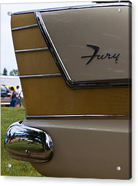 Acrylic Print featuring the photograph Plymouth Fury Tail Fin Detail by Mick Flynn