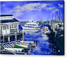 Plymouth Harbor Acrylic Print