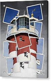 Plymouth Hoe Lighthouse Acrylic Print by Donald Davis